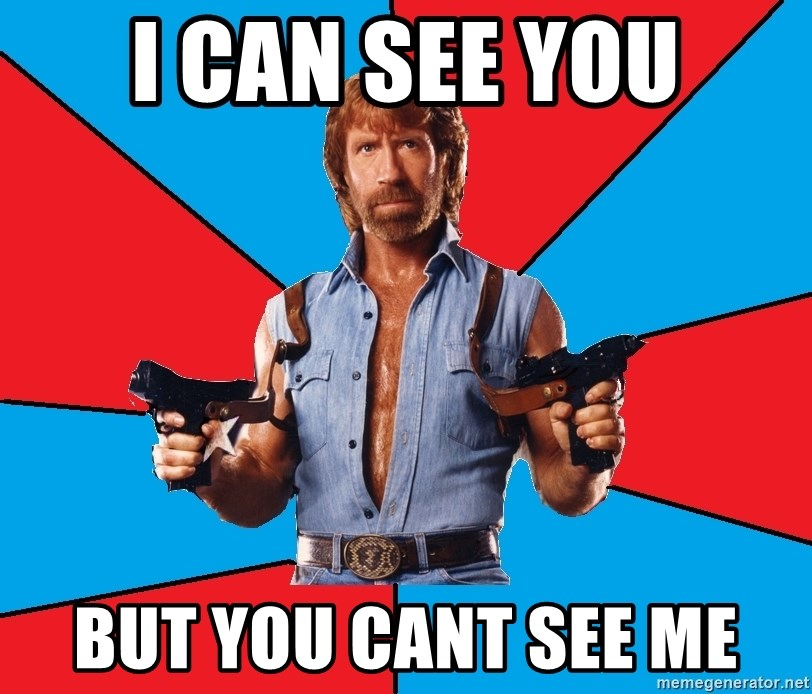 Chuck Norris  - I CAN SEE YOU BUT YOU CANT SEE ME