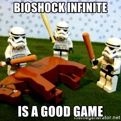 Beating a Dead Horse stormtrooper - Bioshock infinite Is a good game