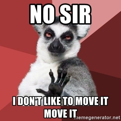 Chill Out Lemur - NO SIR I DON'T LIKE TO MOVE IT MOVE IT
