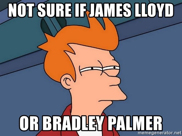 Futurama Fry - Not SUre If James Lloyd  Or Bradley Palmer