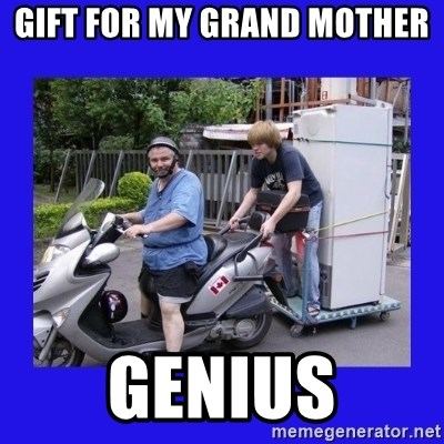Motorfezzie - gift for my grand mother genius