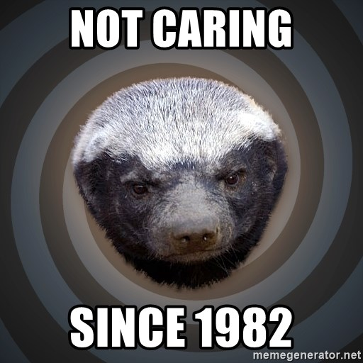 Fearless Honeybadger - not caring since 1982