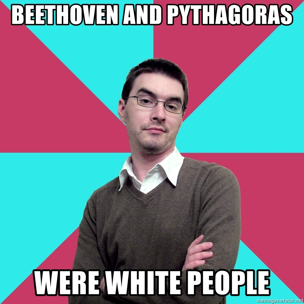 Privilege Denying Dude - Beethoven and pythagoras were white people