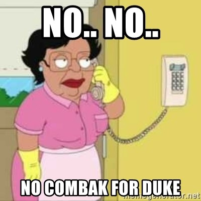 Family guy maid - NO.. No.. no combak for duke