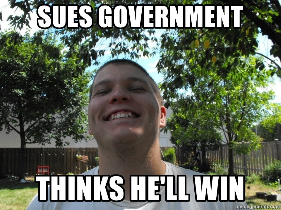 Jamestroll - Sues government thinks he'll win