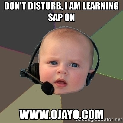 FPS N00b - don't disturb, i am learning sap on www.ojayo.com