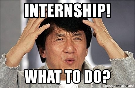 Jackie Chan - INternship! what to do?