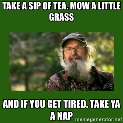 Si Robertson - Take A sip of tea. mow a little grass and if you get tired. take ya a nap