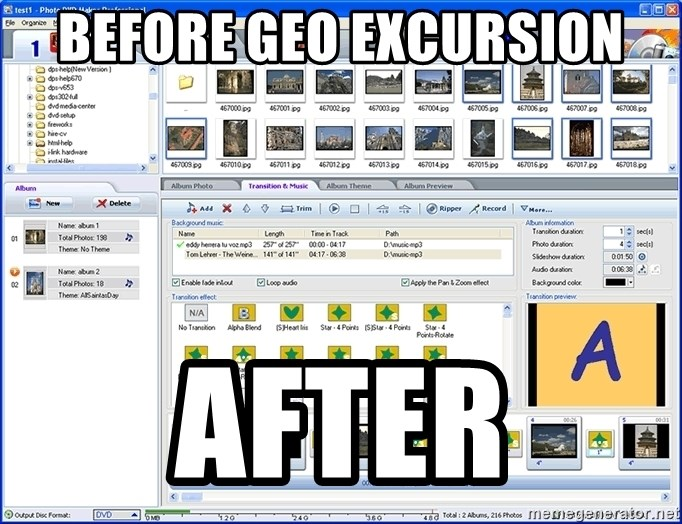 Maker - before geo excursion after
