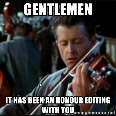 Titanic Band - Gentlemen it has been an honour editing with you