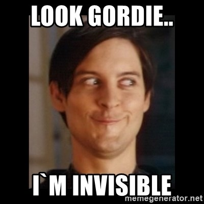 Toby Maguire trollface - look gordie..  i`m invisible