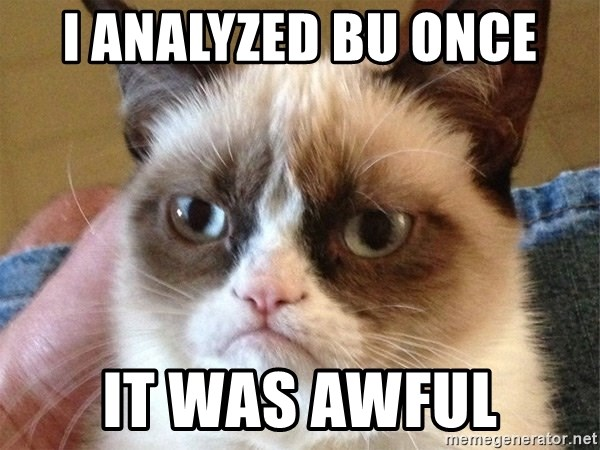Angry Cat Meme - I analyzed Bu once it was awful