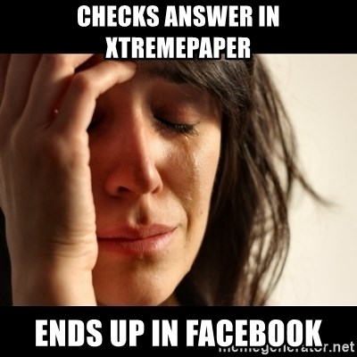 crying girl sad - Checks answer in xtremepaper ends up in facebook