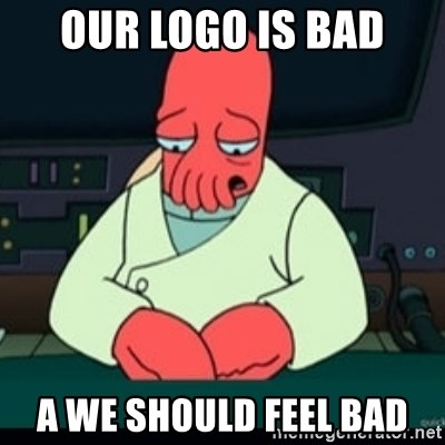Sad Zoidberg - Our LOGO is BAD a we should feel bad