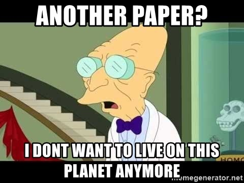 I dont want to live on this planet - Another paper? i dont want to live on this planet anymore