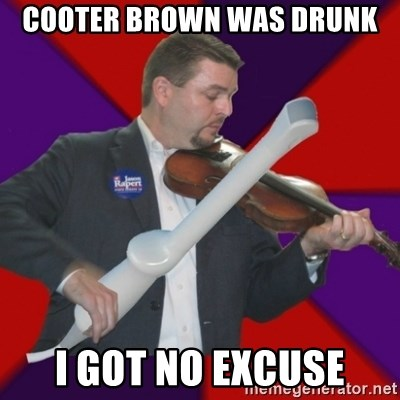 FiddlingRapert - Cooter Brown was drunk I got no excuse