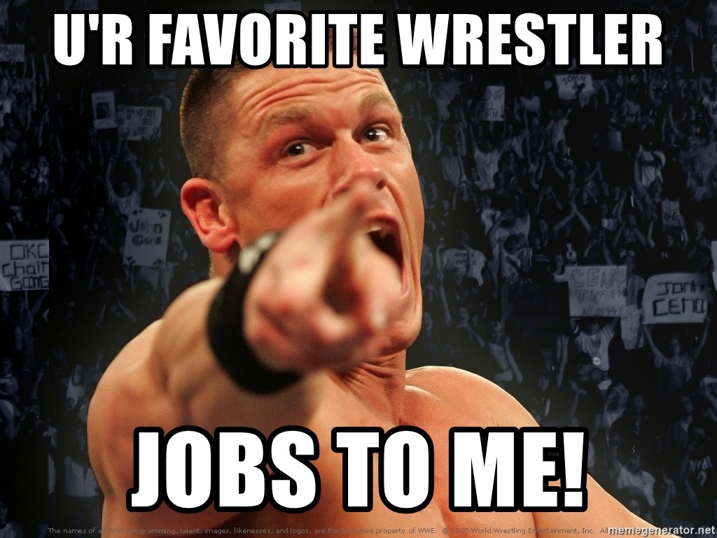 John Cena Smack Down - U'R FAVORITE WRESTLER JOBS TO ME!