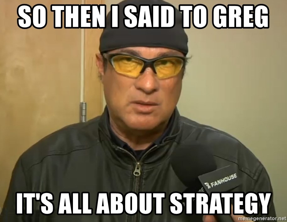 Steven Seagal Mma - So then i said to greg it's all about strategy
