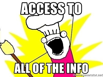 BAKE ALL OF THE THINGS! - access to all of the info