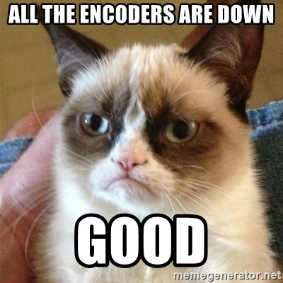 Grumpy Cat  - All the encoders are down good