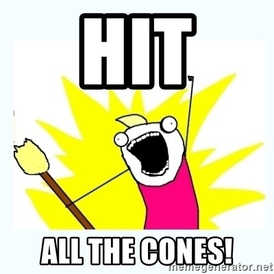 All the things - Hit All the cones!