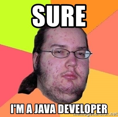 Gordo Nerd - Sure I'm a java Developer