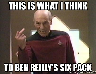 Picard Finger - this is what i think to ben reilly's six pack