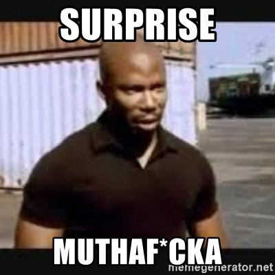 James Doakes surprise - Surprise Muthaf*cka
