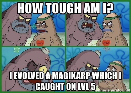 How tough are you - How tough am i? I evolved a magikarp which i caught on lvl 5