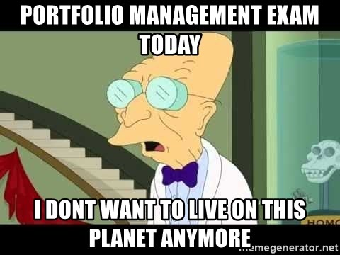 I dont want to live on this planet - Portfolio management exam today I dont want to live on this planet anymore