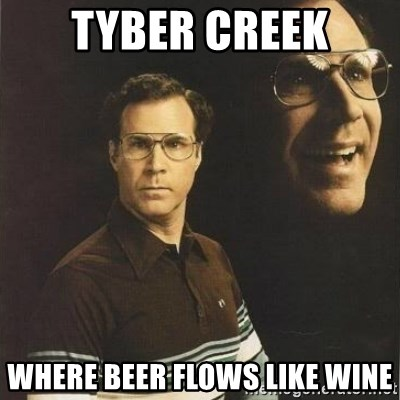 will ferrell - TYber creek Where beer flows like wine
