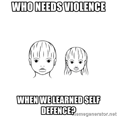 The Purest People in the World - who needs violence when we learned self defence?