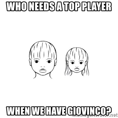 The Purest People in the World - who needs a top player when we have giovinco?