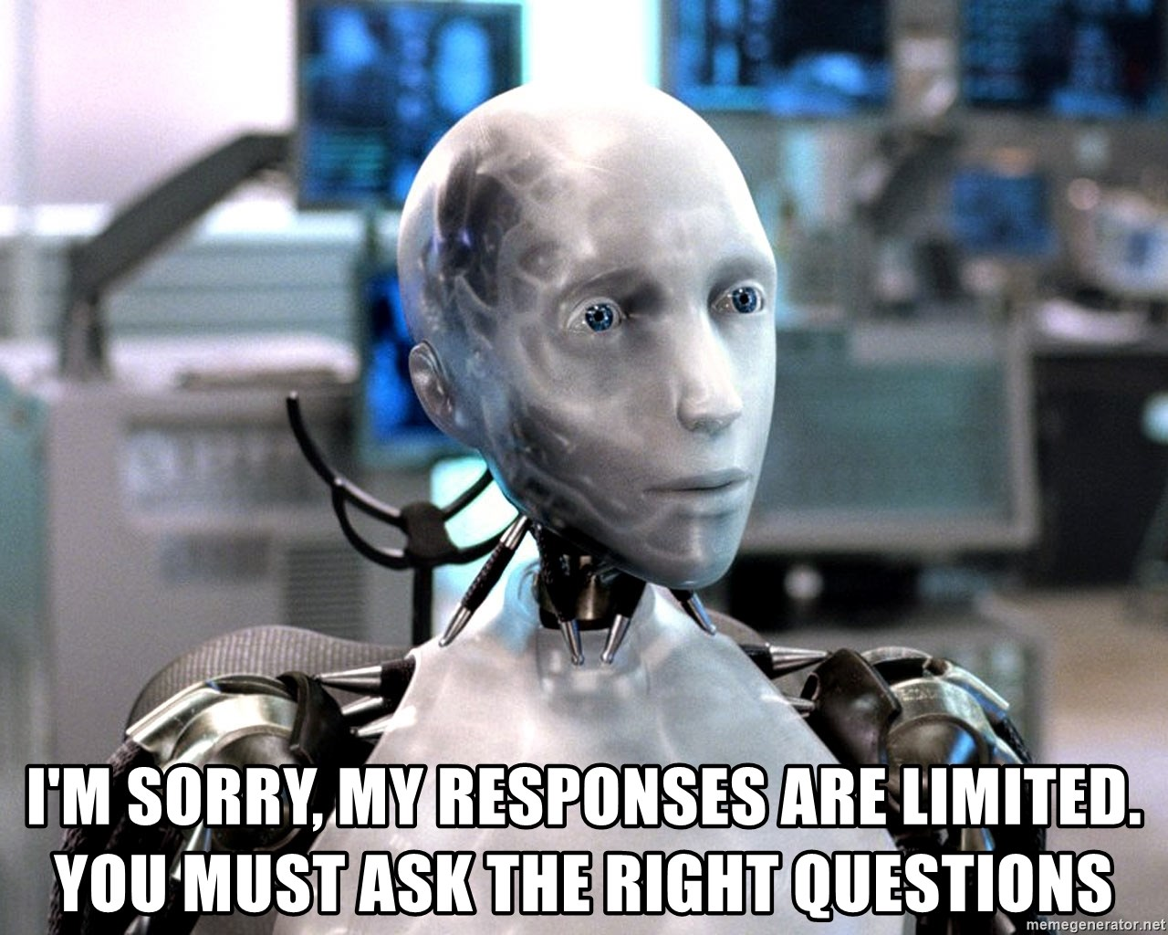 Sonny I Robot - I'm sorry, my responses are limited. You must ask the right questions