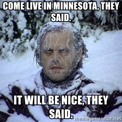 Frozen Jack - come live in minnesota, they said. it will be nice, they said.