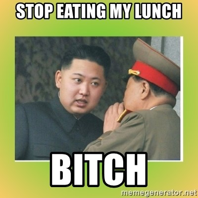 kim joung - Stop eating my lunch bitch