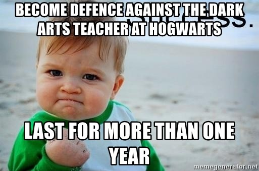 Become Defence Against The Dark Arts Teacher At Hogwarts Last For