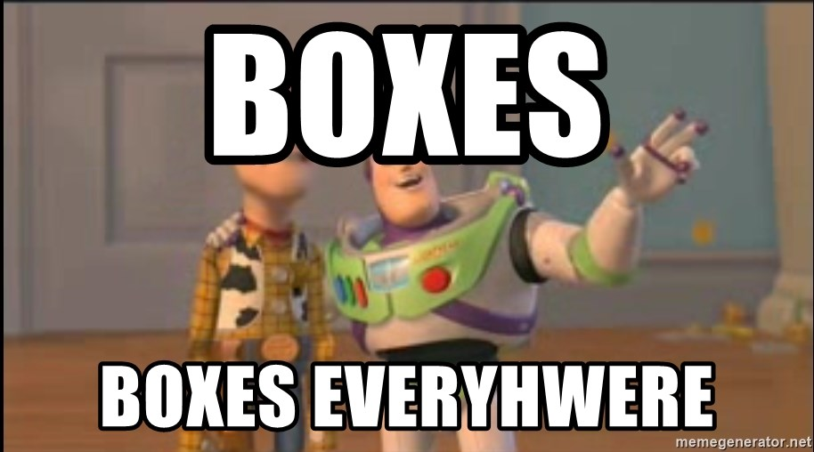 X, X Everywhere  - Boxes Boxes Everyhwere