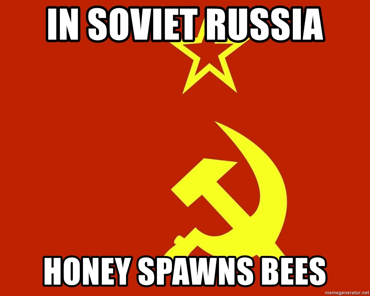 In Soviet Russia - in soviet russia honey spawns bees