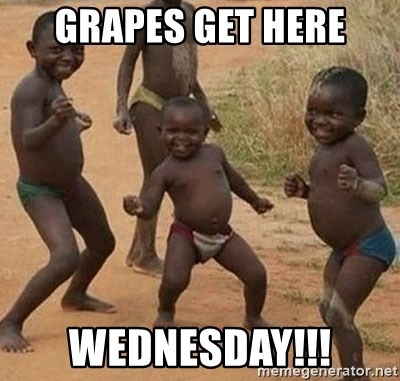 Dancing African Kid - grapes get here Wednesday!!!