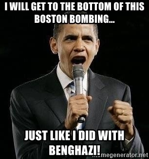 Expressive Obama - i will get to the bottom of this boston bombing... just like i did with Benghazi!