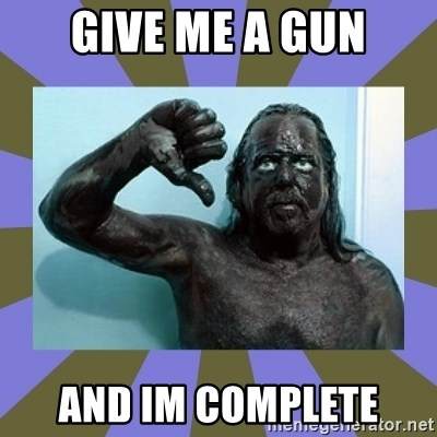 WANNABE BLACK MAN - give me a gun and im complete