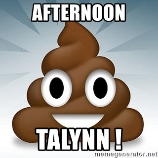Facebook :poop: emoticon - Afternoon talynn !