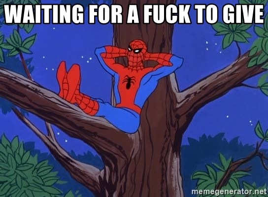 Spiderman Tree - waiting for a fuck to give