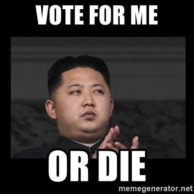 Kim Jong-hungry - vote for me or die