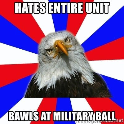 ROTC Eaglee - hates entire unit bawls at military ball