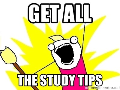 X ALL THE THINGS - GET all the study tips