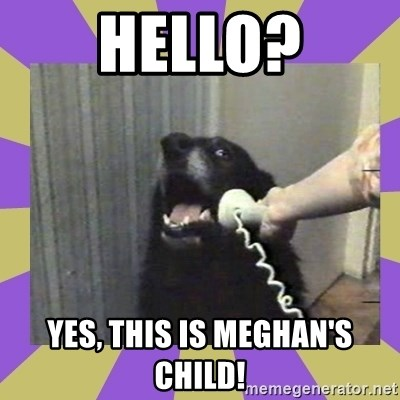 Yes, this is dog! - HELLO? YES, THIS IS MEGHAN'S CHILD!