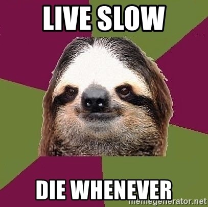 Just-Lazy-Sloth - live slow die whenever