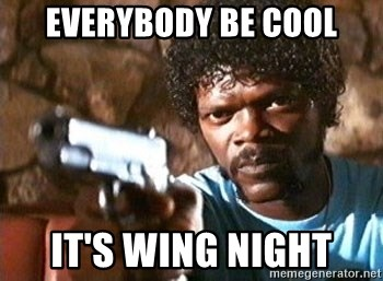 Pulp Fiction - Everybody BE COOL It's wing night